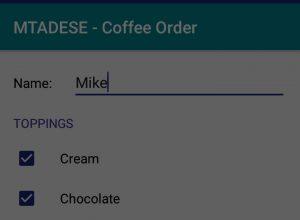 Coffee Order App – 2017