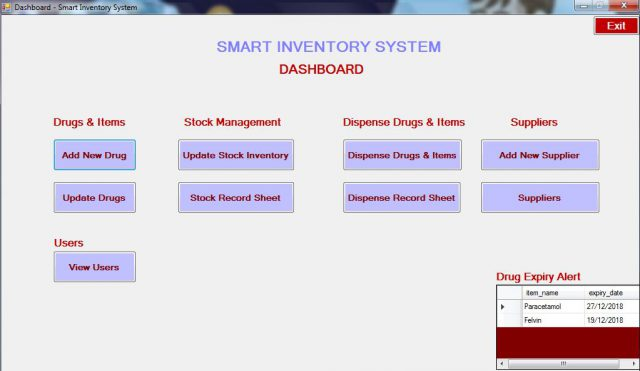 Smart Inventory System – 2018